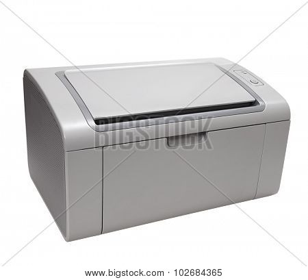 Laser printer isolated on white.