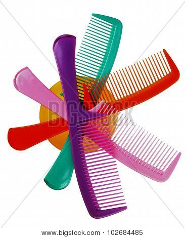 Bright, Color Hairbrushes