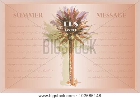 Template with palm trees