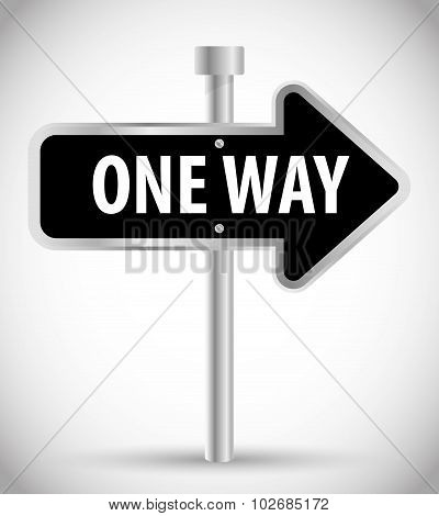One way road sign advertising design,
