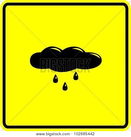 raining cloud sign