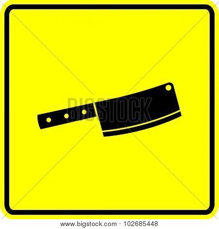 butcher knife sign