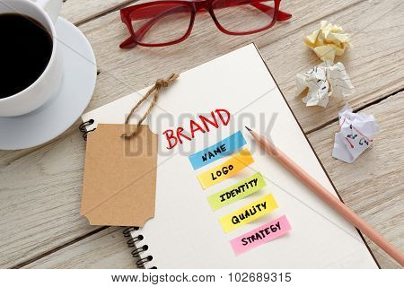 Brand Marketing Concept With Office Desk