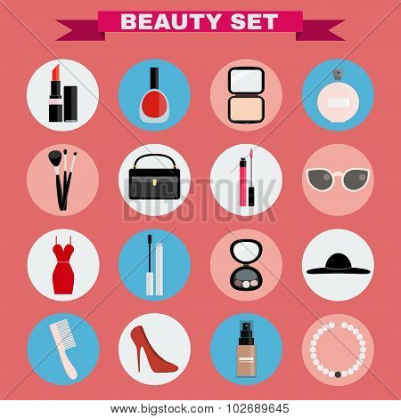 Beauty Big Vector Icon Set