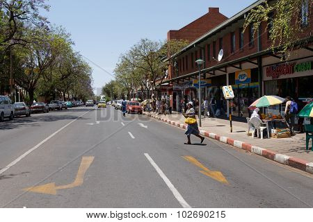 Street In Francis Town, Botswana