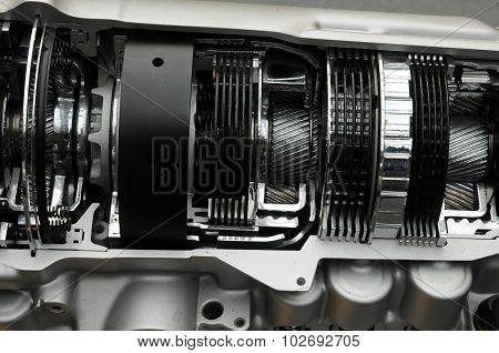Close Up Of A Car Gearbox