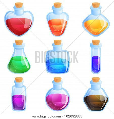 Potion Boutles For Match Three Puzzle  Game