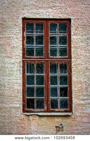 Old window - detail of ancient house