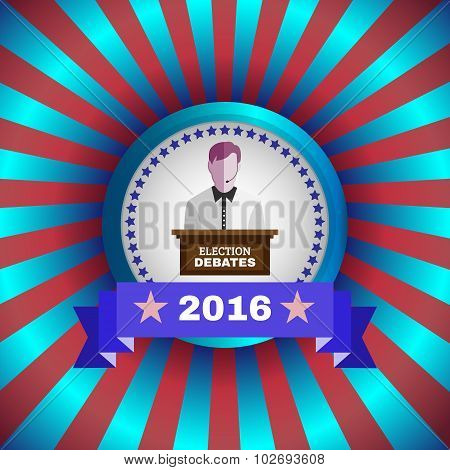 Election Debates 2016 Flyer