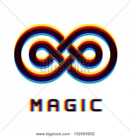 vector magic eternity distortion blur emblem