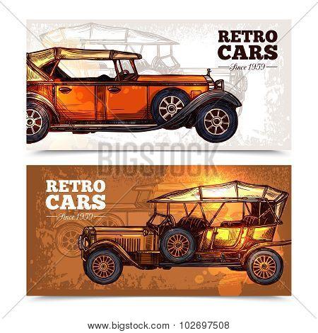 Retro Cars Banner Set