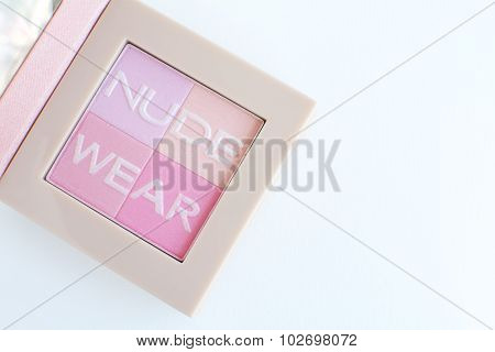 nude tone,pink tone blusher palette