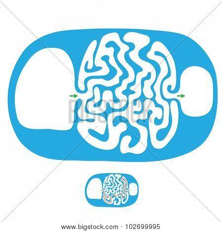Vector childish maze,  labyrinth illustration