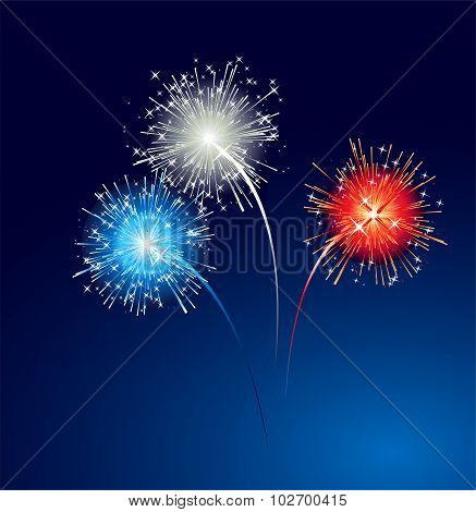 Abstract colorful firework  background