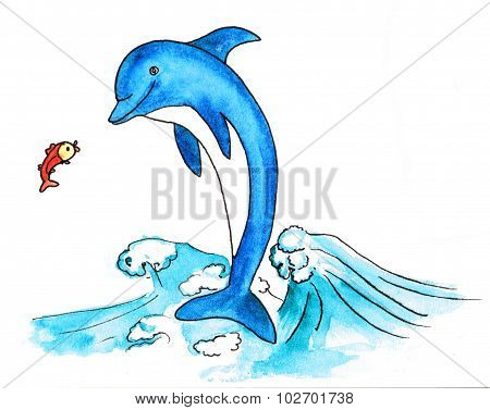 dolphin and fish