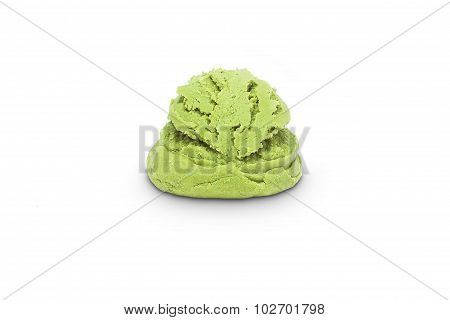 Scoop of pistachio ice cream