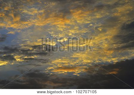 Majestic Clouds with vivid sky