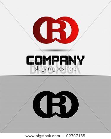 Alphabetical Logo Design Concepts. Letter R