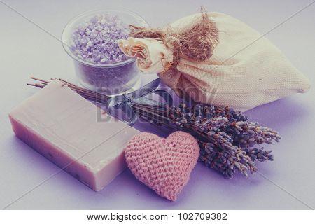 lavender spa set