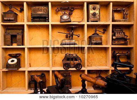 Antiques Shelf In Landscape Mode