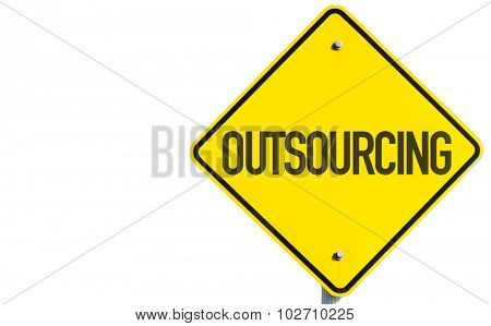 Outsourcing sign isolated on white background