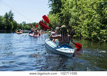 Rafting on the Vorskla River.