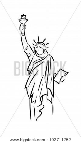 Statue of Liberty Line Art