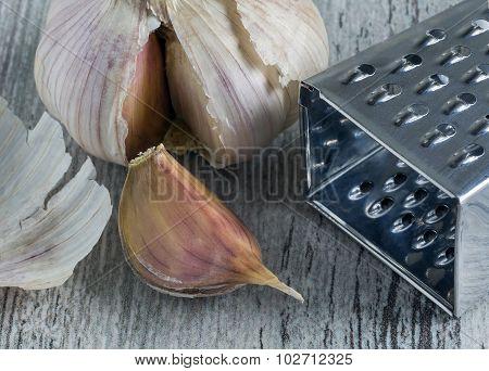Garlic. Top View
