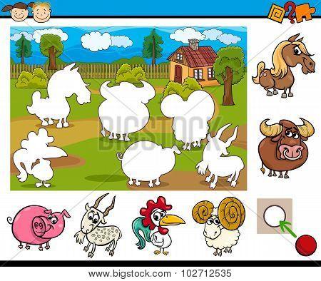 Cartoon Educational Task For Kids
