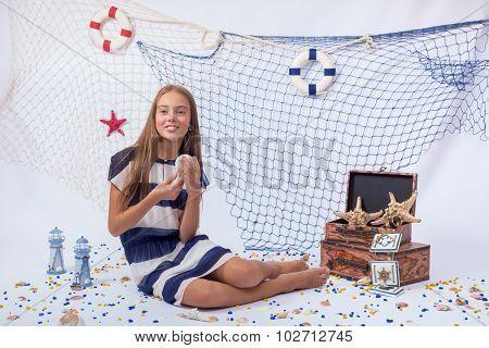 Beautiful teen girl smiling