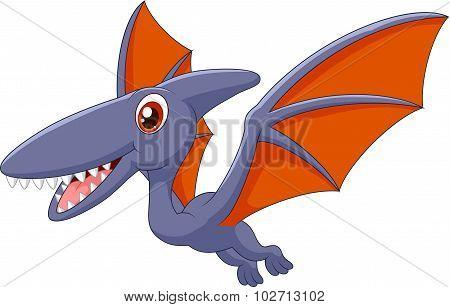 Happy pterodactyl cartoon