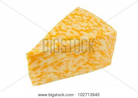 Marble Cheese Isolated On White Background