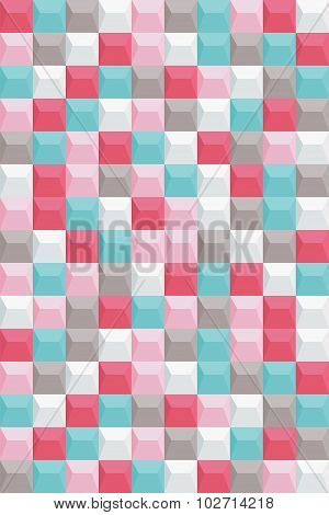 Retro background, pattern square, bright colors, vector background.