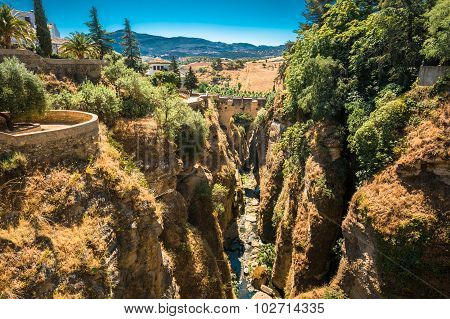 The Puente Viejo - Old Bridge in Ronda, Province Of Malaga, Spai