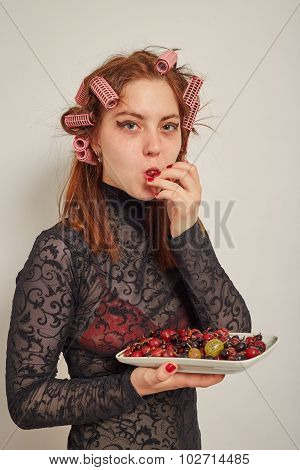 Woman With Berry