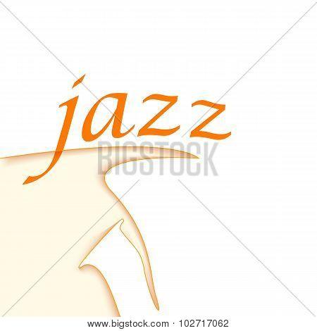Jazz Logo Design. Saxophone Shape