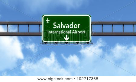 Salvador Brazil Airport Highway Road Sign