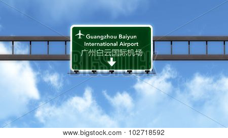 Guangzhou China Airport Highway Road Sign