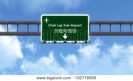 Hong Kong China Airport Highway Road Sign