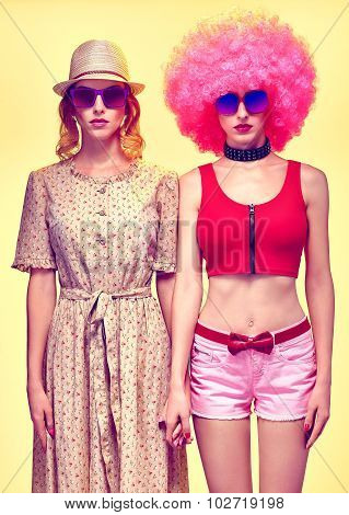 Beauty fashion hipster women