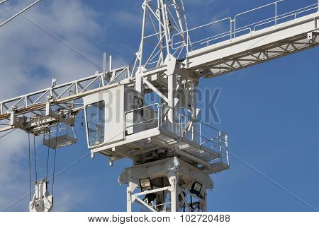 Crane On Blue Sky