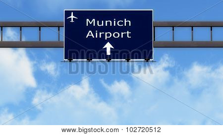 Munich Germany Airport Highway Road Sign