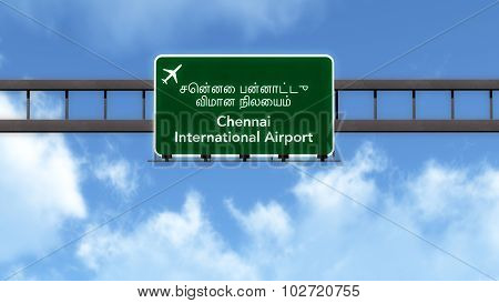 Chennai India Airport Highway Road Sign