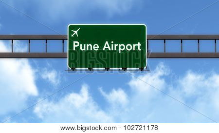 Pune India Airport Highway Road Sign