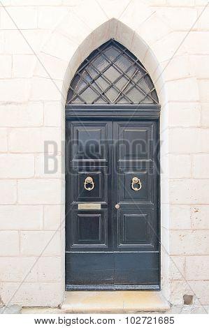 Black Painted Wood Door