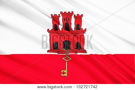 Flag Of Gibraltar