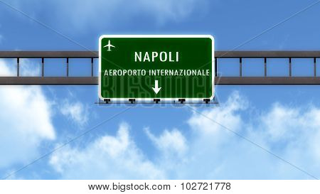 Napoli Italy Airport Highway Road Sign