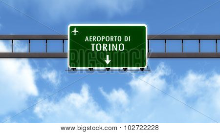 Torino Italy Airport Highway Road Sign