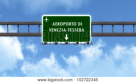 Venezia Italy Airport Highway Road Sign