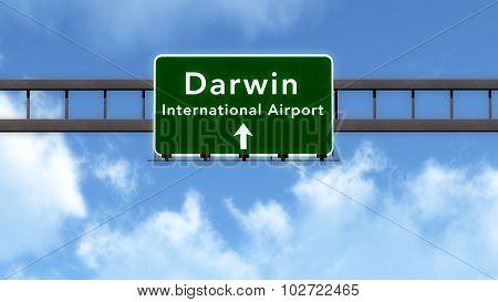 Darwin Australia Airport Highway Road Sign